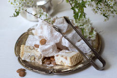 Lokum and nougat - Turkish sweets Royalty Free Stock Images