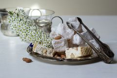 Lokum and nougat - Turkish sweets Stock Photo