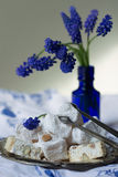 Lokum and nougat - Turkish sweets Stock Photos