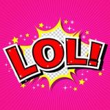 LoL! Κωμική λεκτική φυσαλίδα, κινούμενα σχέδια Στοκ φωτογραφία με δικαίωμα ελεύθερης χρήσης