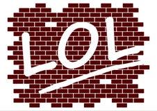 Lol на стене Стоковые Фото