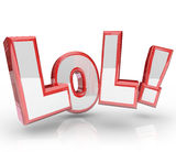 LOL Abbreviation Laugh Out Loud Funny Expression Stock Image