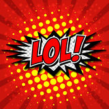 LoL! Bolha cômica do discurso, desenhos animados Imagens de Stock
