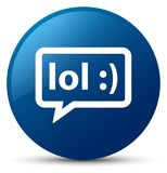 LOL bubble icon blue round button Royalty Free Stock Photography