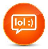 LOL bubble icon elegant orange round button Stock Photo