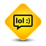 LOL bubble icon elegant yellow diamond button Royalty Free Stock Images