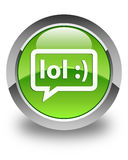 LOL bubble icon glossy green round button Royalty Free Stock Photography