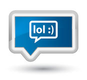 LOL bubble icon prime blue banner button Royalty Free Stock Photography