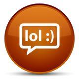 LOL bubble icon special brown round button Stock Photo