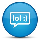 LOL bubble icon special cyan blue round button Royalty Free Stock Photography