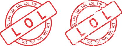 Lol circle red stamp sticker Royalty Free Stock Photos