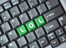 Lol klucz na klawiaturze Fotografia Royalty Free
