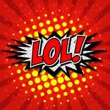 LoL! Komische Sprache-Blase, Karikatur Stockbilder