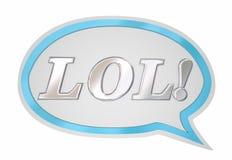 LOL Laughing Out Loud Speech-Bellenwolk Stock Afbeeldingen