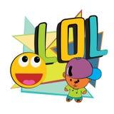 Lol och barn. stock illustrationer