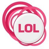 LOL Random Pink Rings royaltyfri illustrationer