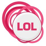 LOL Random Pink Rings Royalty Free Stock Photo