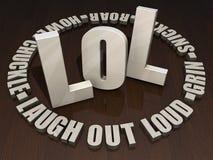 LOL - Risa hacia fuera ruidosamente Foto de archivo libre de regalías