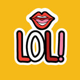 Lol Sticker Social Media Network Message Badges Design Stock Images