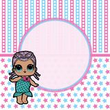 Party Backdrop with cute Lol  Dolls , Baby shower party backdrop. Party Backdrop with cute  Dolls , Baby shower party backdrop vector illustration