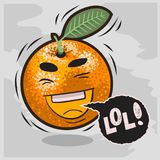 Lol udziały śmiechy Z Roześmianymi Pomarańczowymi Śmiesznymi owoc Obraz Royalty Free