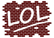 Lol on the wall. Rubber stamp with the word lol on the wall on a white background royalty free illustration