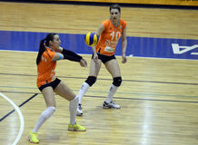 Lola Arslanbekova und Alexandra Romela Trica Lizenzfreies Stockfoto