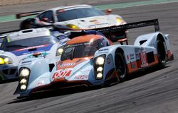 Lola Aston Martin (het ras van de Reeks van Le Mans) Royalty-vrije Stock Afbeelding