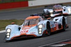 Lola Aston Martin (het ras van de Reeks van Le Mans) Stock Fotografie