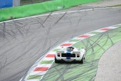 Lola Mk III coupé bij Ascari-chicane stock afbeelding