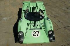 1969 Lola T70 Mark 3b Coupe Race Car. Birds eye view stock photo
