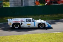 1968 Lola T70 MK3B στο κύκλωμα Monza Στοκ Εικόνες