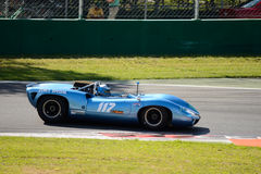 1965 Lola T70 MK1 Spyder at Monza Circuit Royalty Free Stock Images