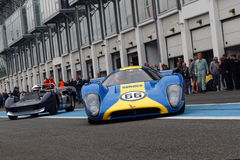 Lola T70 starts from the pits Stock Images