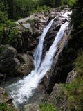 Lolaia vattenfall, nationalpark Retezat, Rumänien Royaltyfria Foton