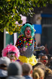 Loldiers of Odin clowns at the anti-racism rally in Helsinki, Finland Stock Images