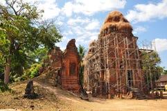 Lolei świątynia w Siem Przeprowadza żniwa, Kambodża. Zdjęcie Stock