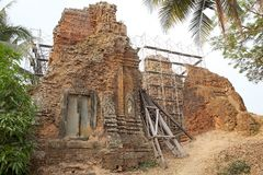 Lolei temple ruins Stock Photography