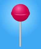 Lolipop rosado del caramelo. Ejemplo del vector. Foto de archivo libre de regalías