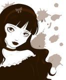 哥特式lolita 免版税库存照片
