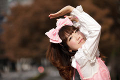 Lolita cosplay. Lolita japanese cosplay fashion portrait Stock Photos