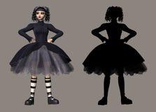 Lolita gothique illustration de vecteur
