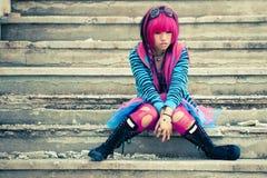 Lolita triste asiatico Immagini Stock