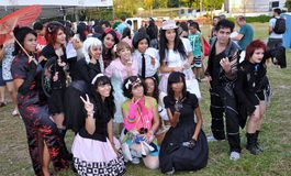 Lolitas festival Animes Royalty Free Stock Photo
