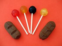 Lollies. Lollipop. Sweets. chocolate. candy. confectionery. Stock Photos