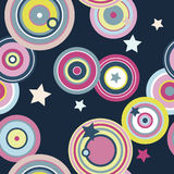 Lollies and Stars Seamless Pattern. Seamless pattern with bright colors and a funky feel stock illustration