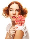 lollipop αρκετά γυναίκα Στοκ φωτογραφία με δικαίωμα ελεύθερης χρήσης