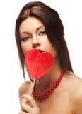 lollipop αρκετά γυναίκα Στοκ Φωτογραφίες