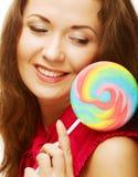 lollipop αρκετά γυναίκα Στοκ φωτογραφίες με δικαίωμα ελεύθερης χρήσης