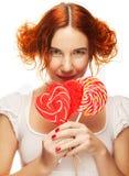 lollipop αρκετά γυναίκα Στοκ εικόνες με δικαίωμα ελεύθερης χρήσης